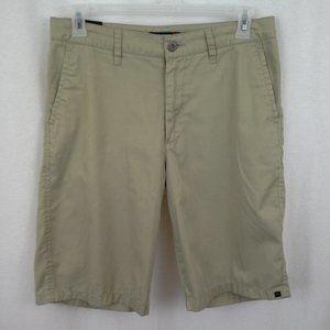 Quiksilver mens shorts Size 32x12 Khaki Flat front